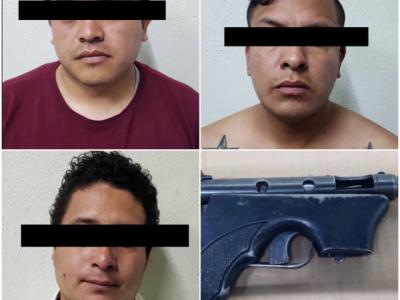 Tres Para Sujetos; Utilizaban A Pistola Aseguran Juguete De qMVUzGSp